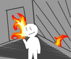 Danger fire!