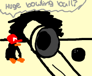 penguin mario bowling drawception
