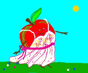 Apple in a lovely summer dress