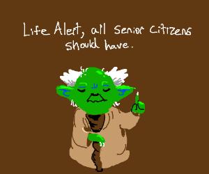 Yoda advertises Life Alert