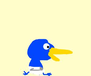 A baby bird subtly implies it needs sustenance