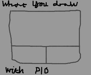 What do you use to draw PIO