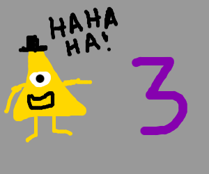 the illuminati finds the number 3 funny