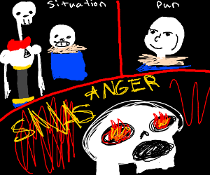SITUATION, PUN, ANGER