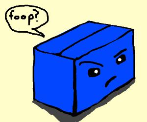 a dubious blue box fooping