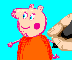 Death by Squeegee Drawing: Peppa Pig's Mom
