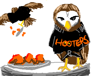Hooters with real owls
