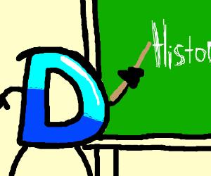 The Drawception D teaches a history class