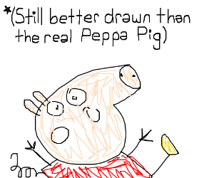 Drawing  a  beautiful Peppa Pig