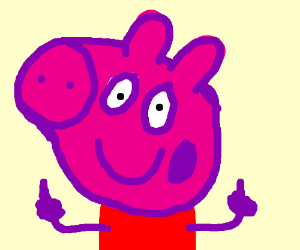 peppa pig makes fun of animators