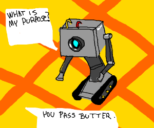 butter passing robot rick and morty drawception