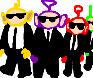 Tellytubbies grew up and joined the mob