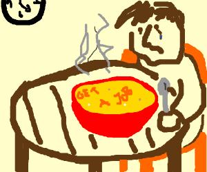 """A person's alphabet soup says """"get a job"""""""
