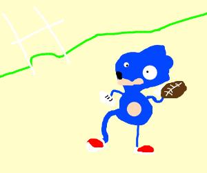 Sanic plays football