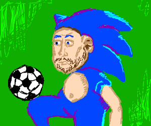 Humanoid Sonic becomes a soccer player.