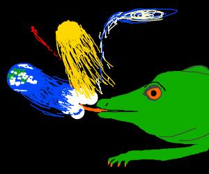 galactic lizard absorbing the universe