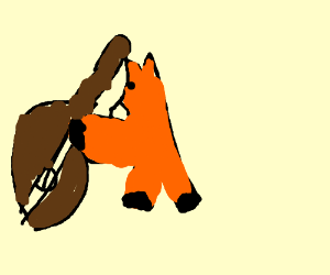 A fox dramatically plays the cello