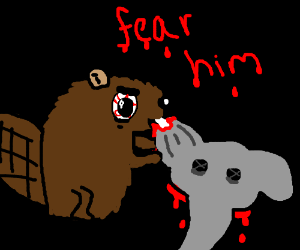 the aggresive beaver ate the elephant