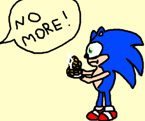A guy doesn't want any money from Sonic