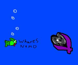 """Derp fish re-enacts """"Finding Nemo"""" (Dartleaf)"""