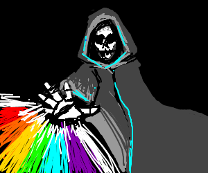 W.D Gaster makes his own fireworks because SCI - Drawception