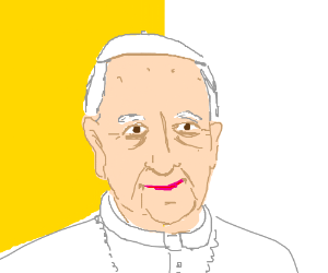 Pope smiles innocently