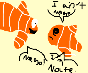 Wrong clown fish; it's Nate, not Nemo
