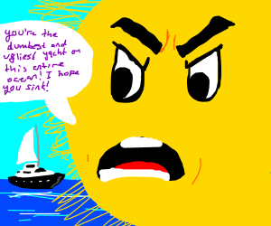 sun that fills 9/10 of panel bullies yacht