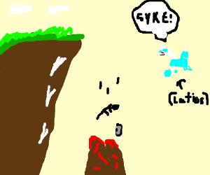 Don't play Pokémon GO near cliffs