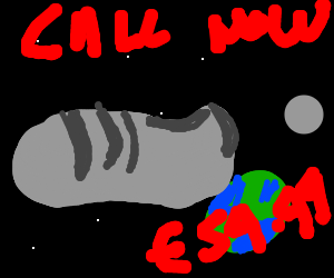 Clamshell shoes in space! Call now!