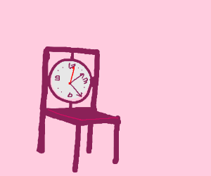 clock is also chair