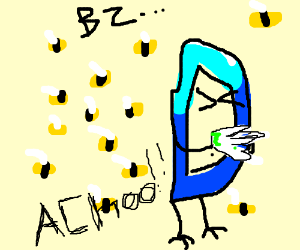 Drawception is allergic to bees
