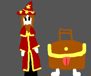 Rincewind and The Luggage