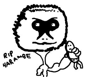 emaciated harambe man