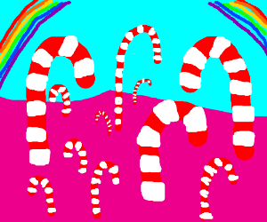 Candy Cane Forest Drawception