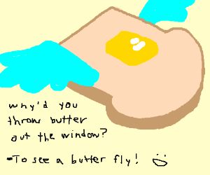 A Buttered-toast-fly
