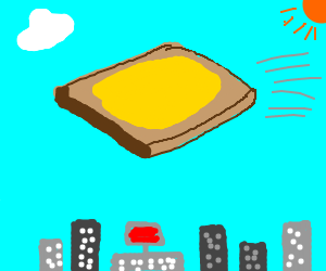 Flying Buttered Toast