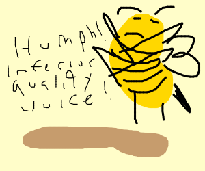 Astounding Snot Nosed Bee Over A Puddle Of Apple Juice Drawing By Bob The Short Hairstyles Gunalazisus