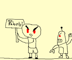 protesting against robots