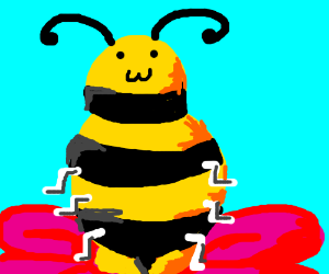 Wingless, overweight, happy bee