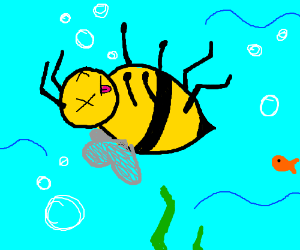 bees die from the oncoming attack of water