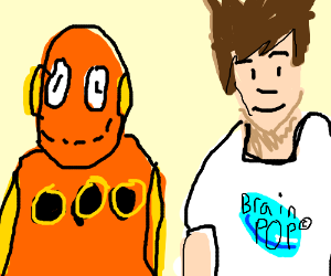 tim and moby from brainpop drawception