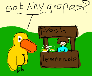 A Duck Walked Up To The Lemonade Stand Cont Drawception