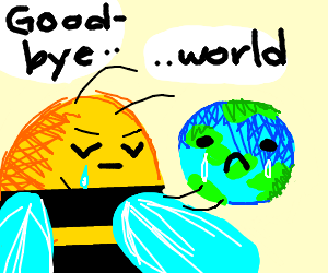 Bees saying goodbye to the world