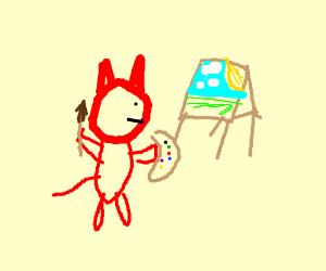 The devil is a painter