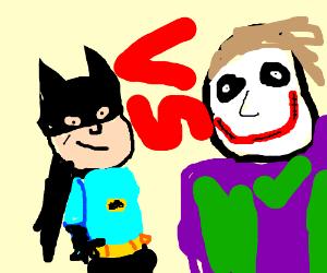 Adam West's batman vs Heath Ledger's Joker
