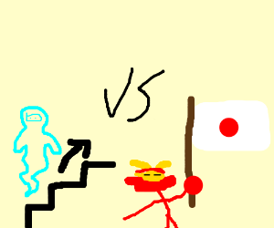 ninja vs samurai, ninja spirit is ascending