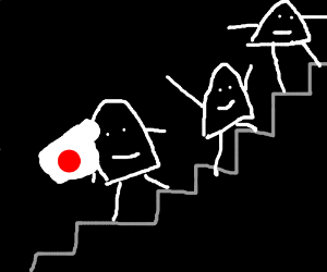 japan in a ghost stair climbing competition