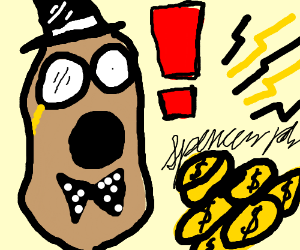 Rich potato is rather shocked