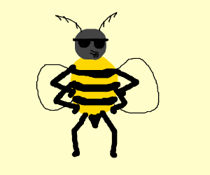 Bee from Bee Movie wearing cool shades
